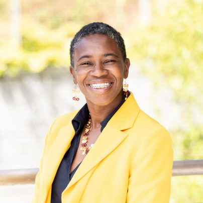 Fatima Alleyne, Director of Community Engagement & Inclusive Practices in UC Berkeley's College of Engineering, poses for a portrait in Berkeley, Calif. on Thursday, Aug. 13, 2020. (Photo by Adam Lau/Berkeley Engineering)